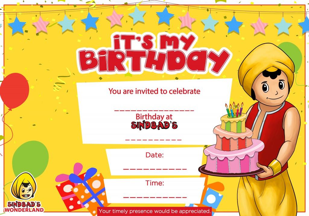 Sindbad – Mcdonalds Birthday Party Invitations
